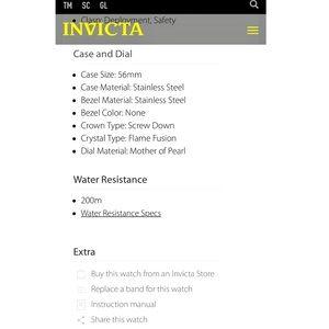 Invicta Accessories - INVICTA RESERVE ARSENAL QUARTZ MENS WATCH